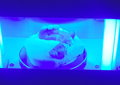 Cuisson par UV de la fibre